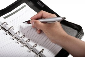 Personal Planner schedule