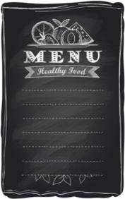 healthy food chalkboard menu