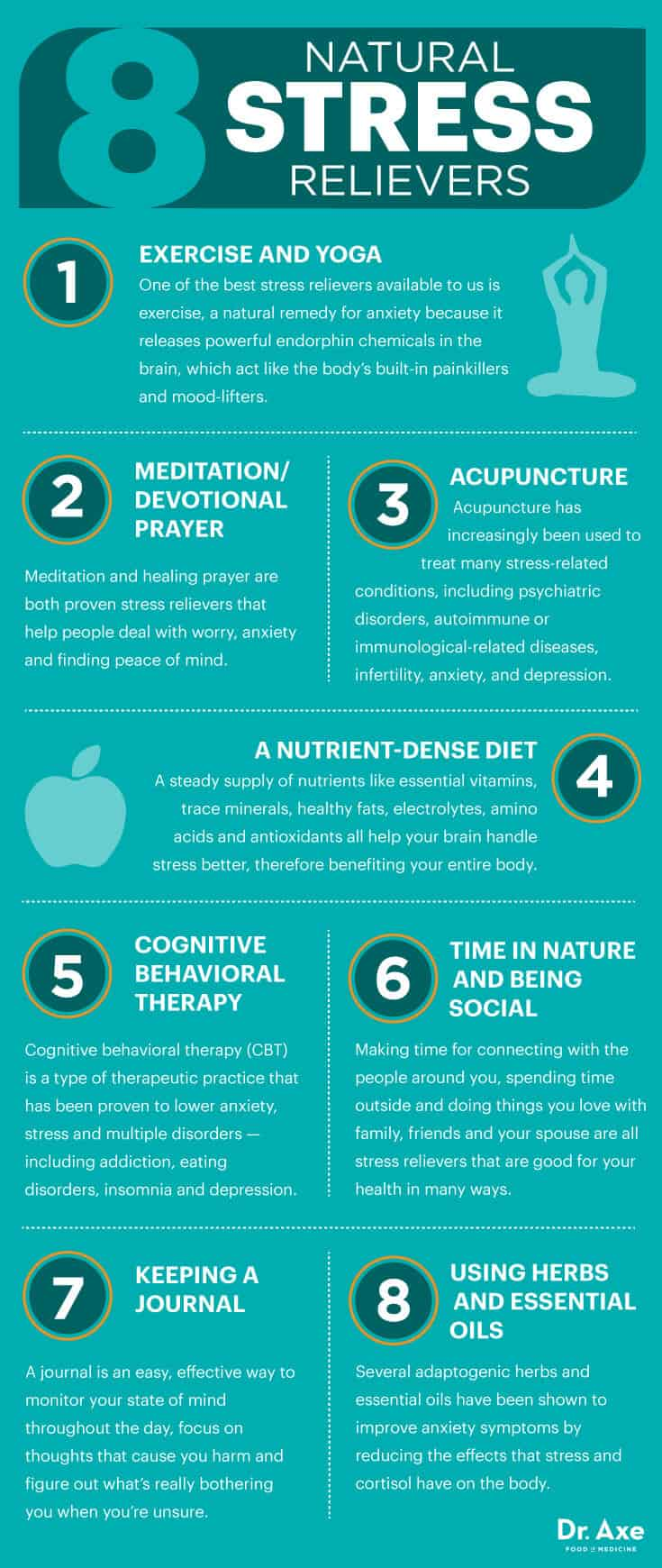 8 natural stress relievers - Dr. Axe