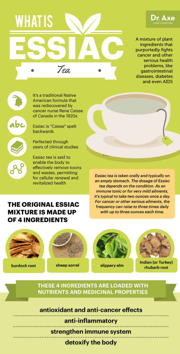 essiac tea of life essay Essiac is a tea made from four herbs a canadian nurse named rene caisse developed it in 1922 she said the formula originally came from an ojibwa indian medicine man.