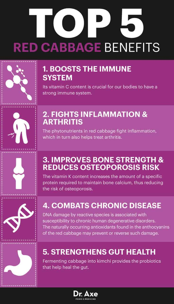 Red cabbage benefits - Dr. Axe