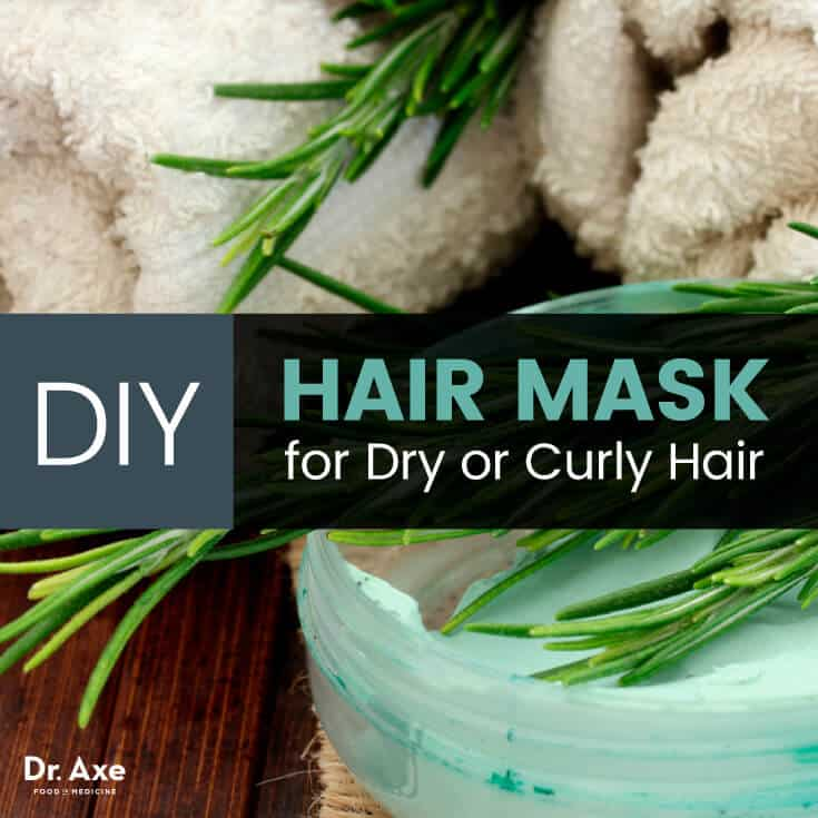 DIY Hair Mask with Lavender and Rosemary Oil   Dr  Axe DIY hair mask   Dr  Axe