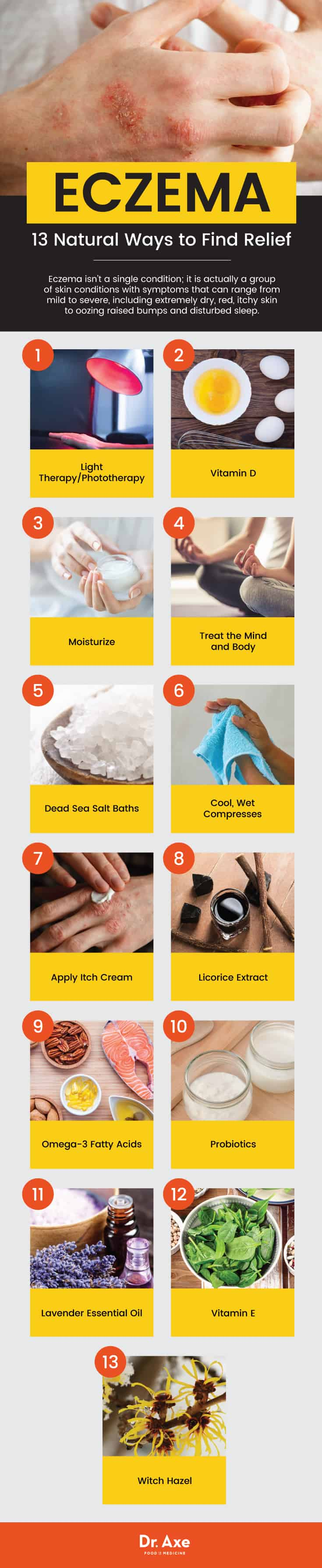 Eczema treatment: 13 natural ways - Dr. Axe