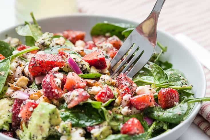 Strawberry spinach salad recipe - Dr. Axe