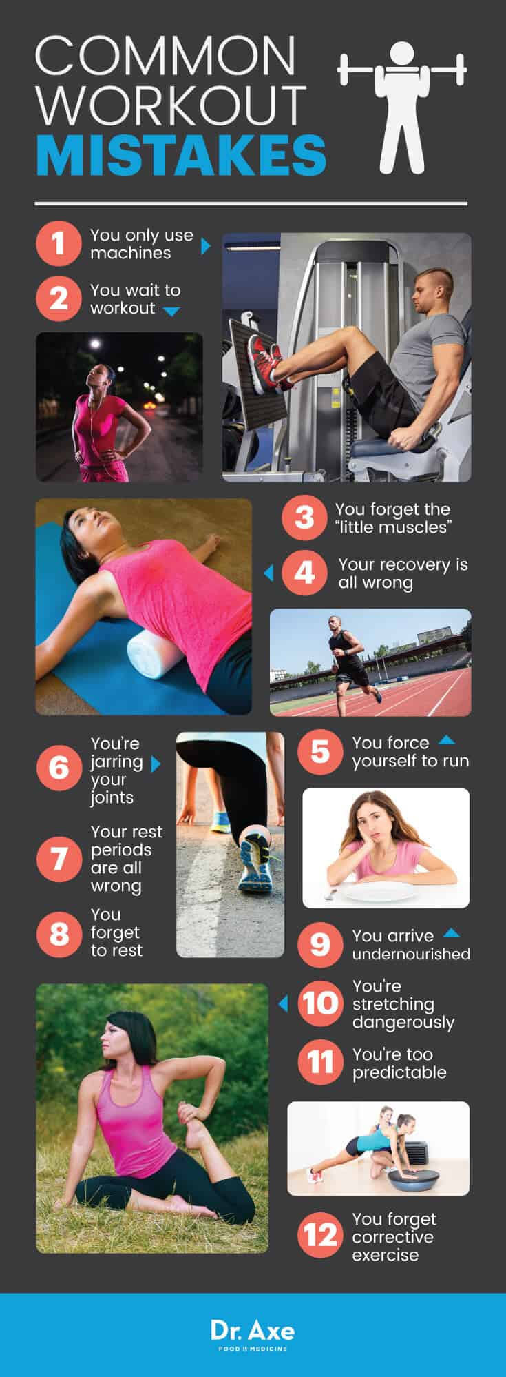 Workout mistakes - Dr. Axe