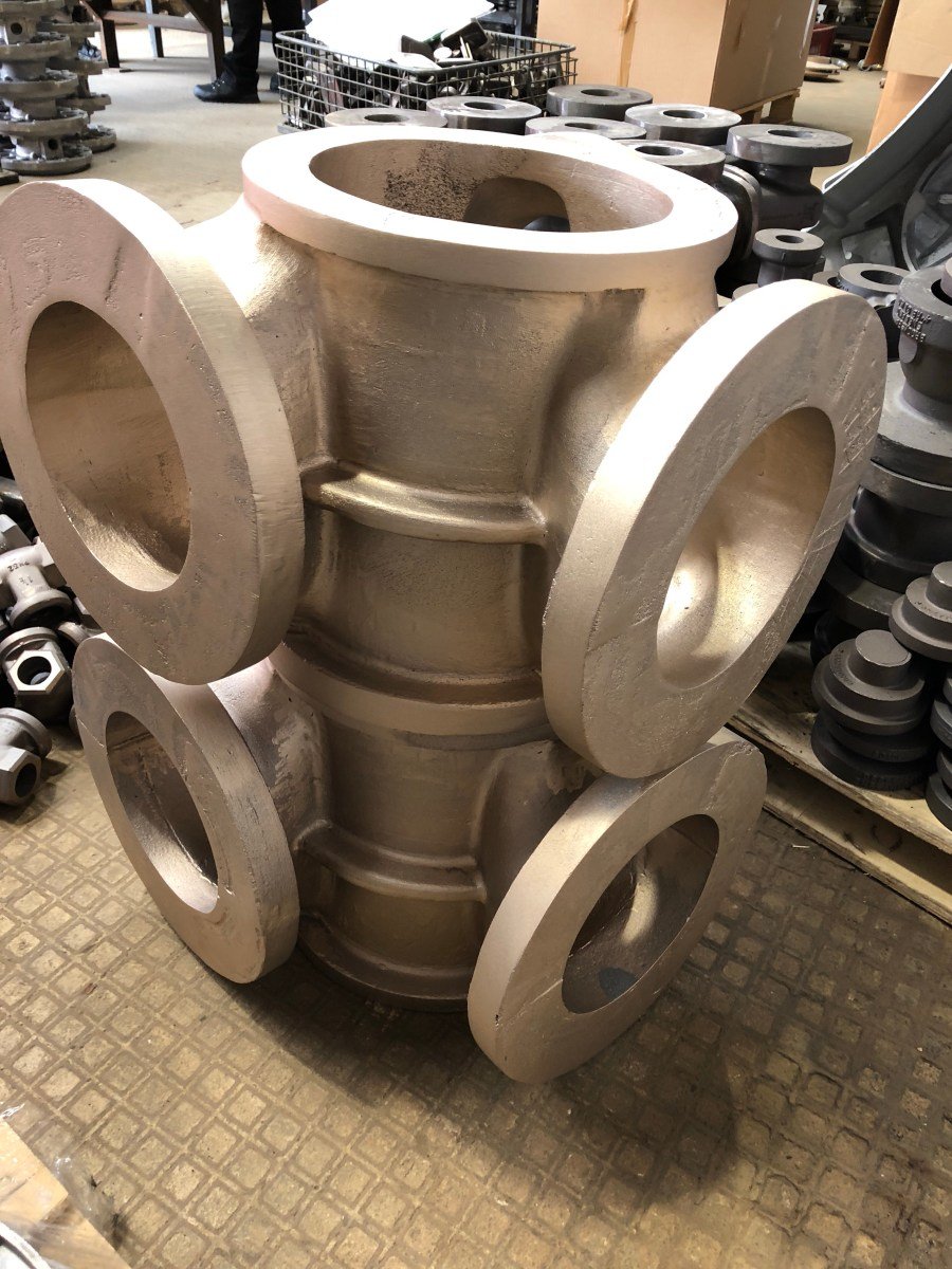 Large LG2 Valve Castings - UK produced casting in UK foundry