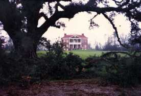 The main house after Hurricane Hugo.