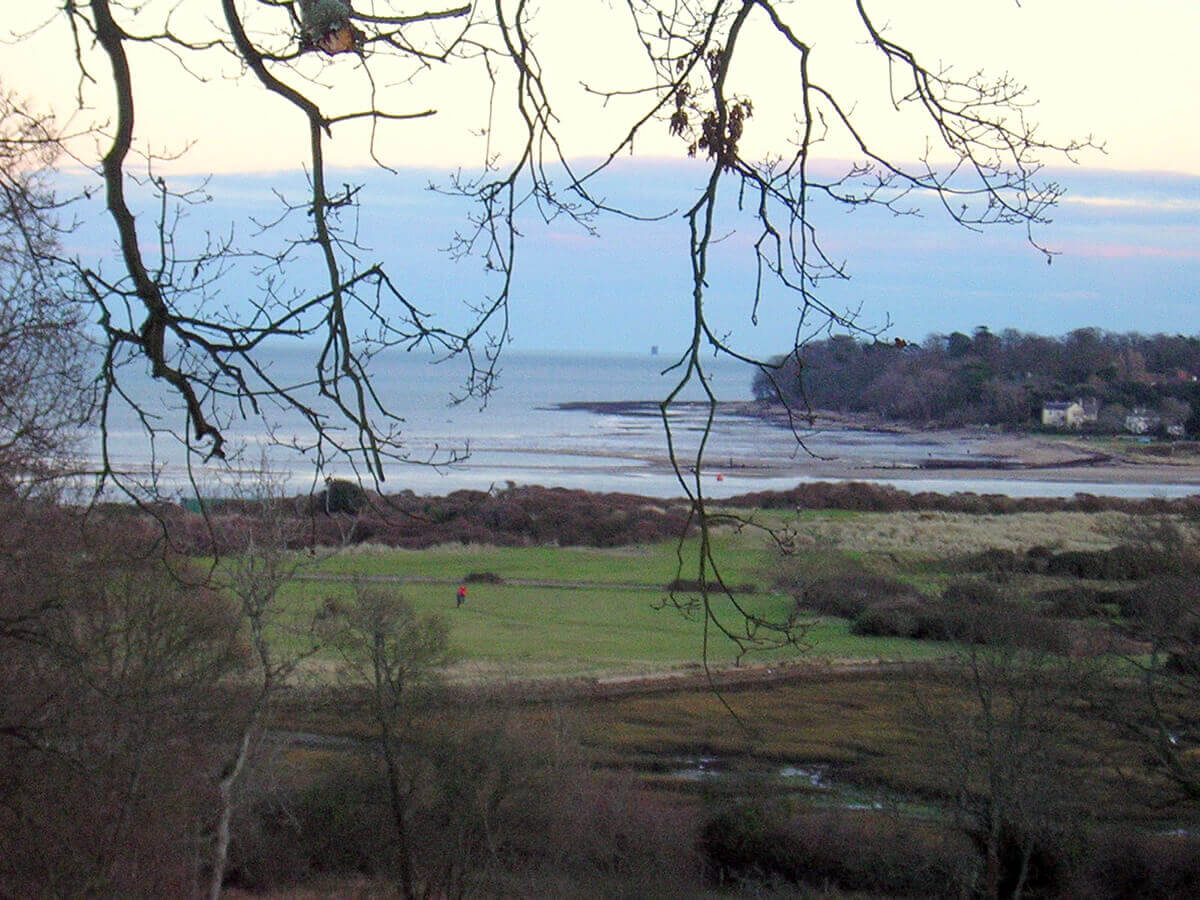 View over Duver at St Helens - the island is perfect for walking all the year round.