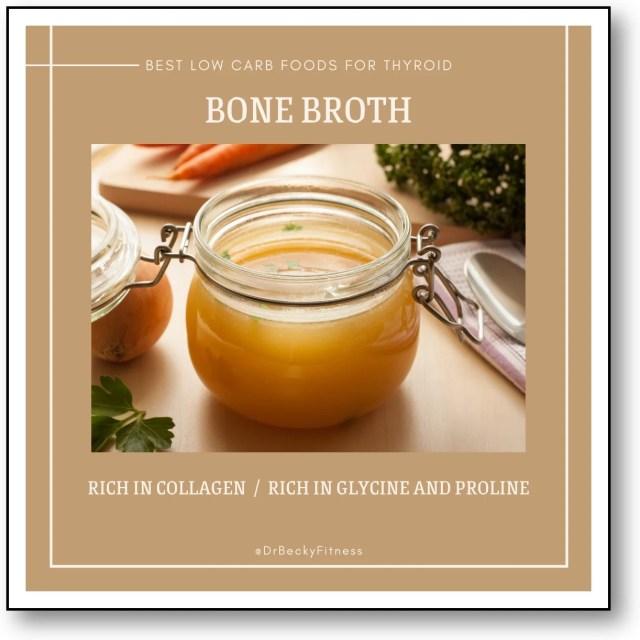 BONE BROTH low carb food for thyroid