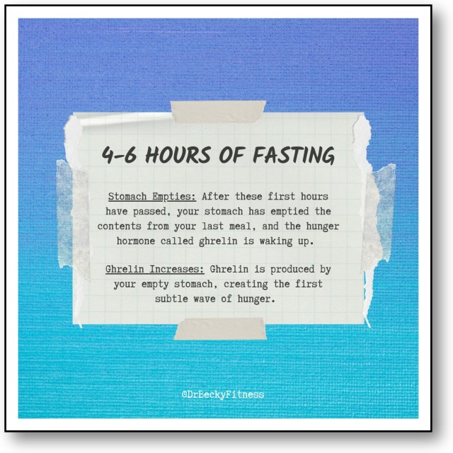 4-6 Hours of Fasting