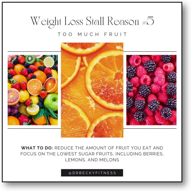 Weight Loss Stall Reason #5: Too Much Fruit