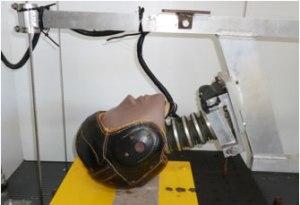 Goldsmith Leatherhead football helmet - sports accident reconstruction expert John Lloyd