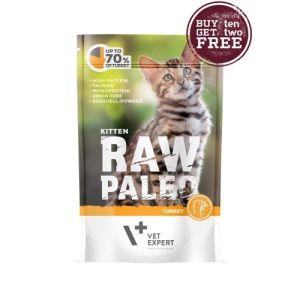 Пауч Raw Paleo Cat Kitten Turkey...