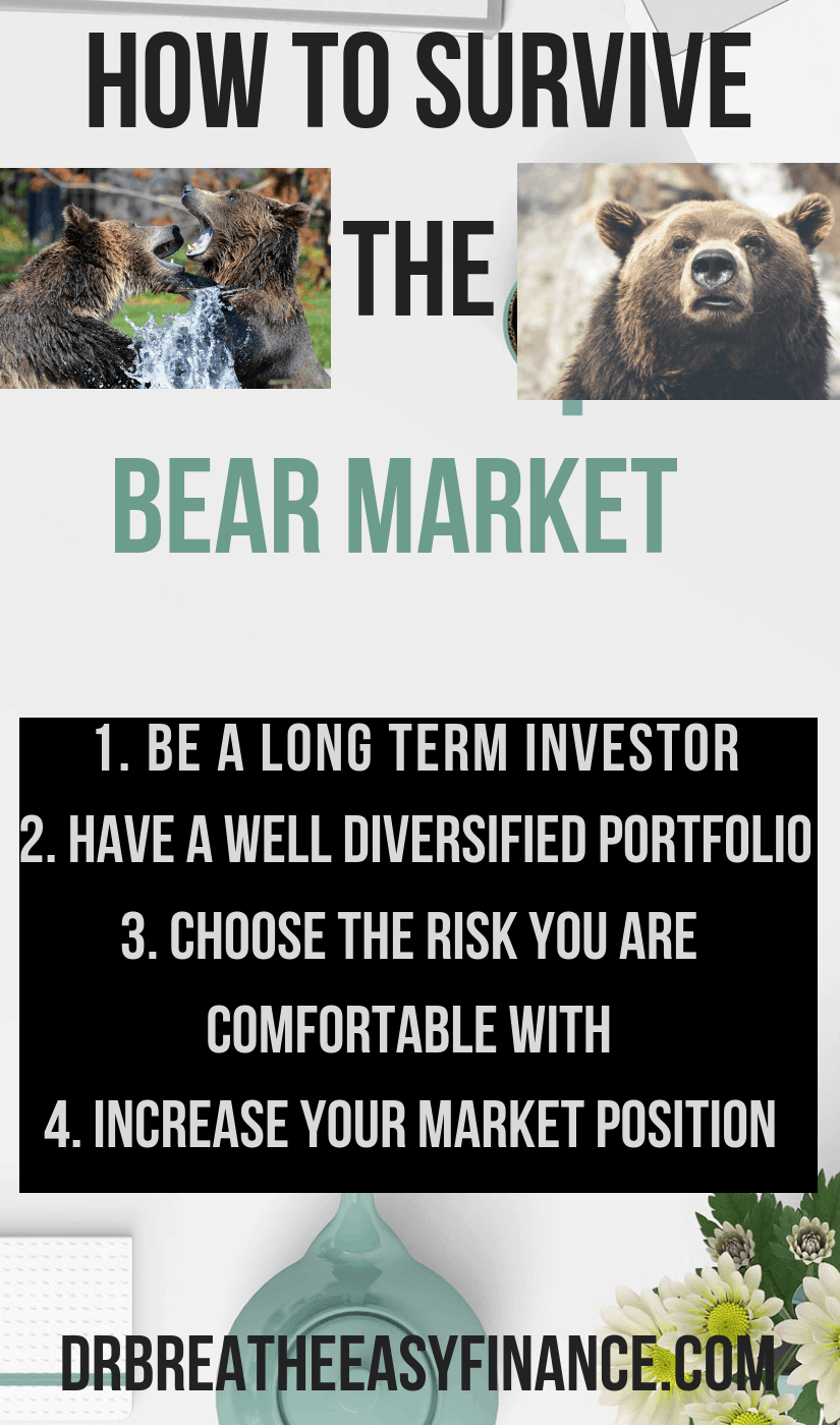 Learn from the wild encounter with the grizzly bear. More analogies inside. Here you will learn the following pressing questions. bull and bear market definition, are we in a bull or bear market, bear market example, difference between bull and bear market, bear market, bear market risk, what causes a bear market, signs of a bear market #personalfinance #investment #bearmarket #bullmarket #investmentforbeginners #bestblogpost #moneytips #breatheeasy