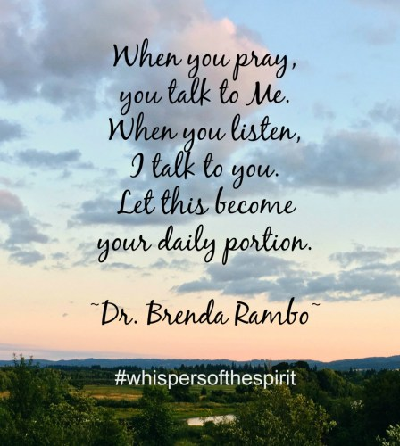 Discern My Whisper by Dr. Brenda Rambo