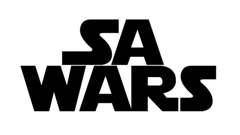 SA Wars in style of Star Wars logo
