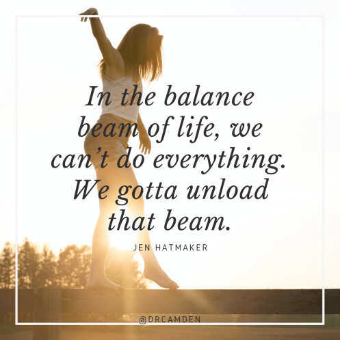 off the beam how to say no for better balance in life
