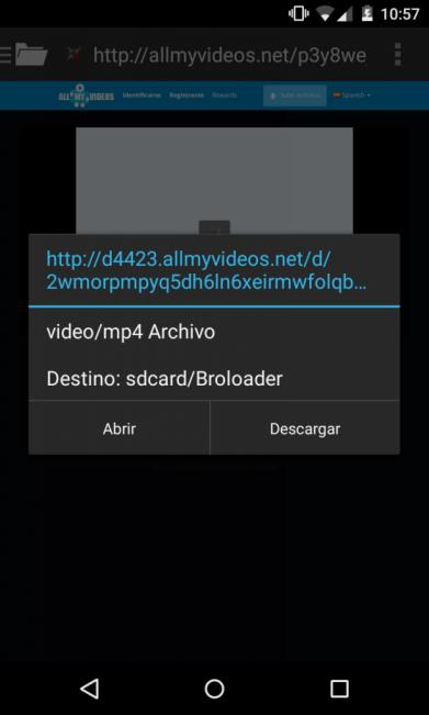 bajar videos de Internet desde Android