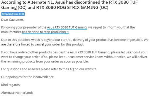 Asus RTX 3080 TUF