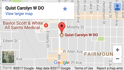 Map Location for Carolyn Quist Office