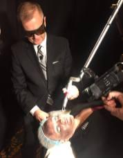 Dr. Greg Chenroff demonestrates the Red Carpet Laser Facial