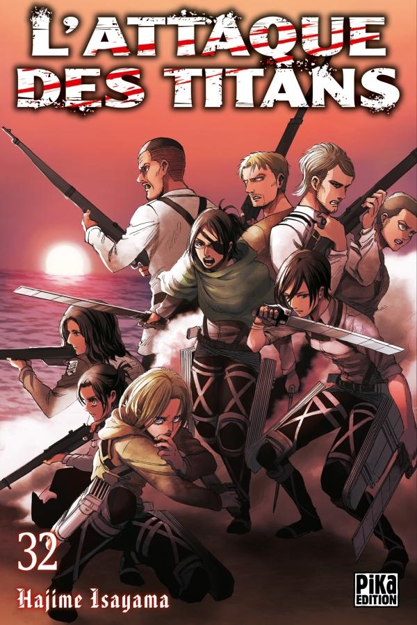 l'attaque des titans,snk,tome 32,manga,seinen,pika edition