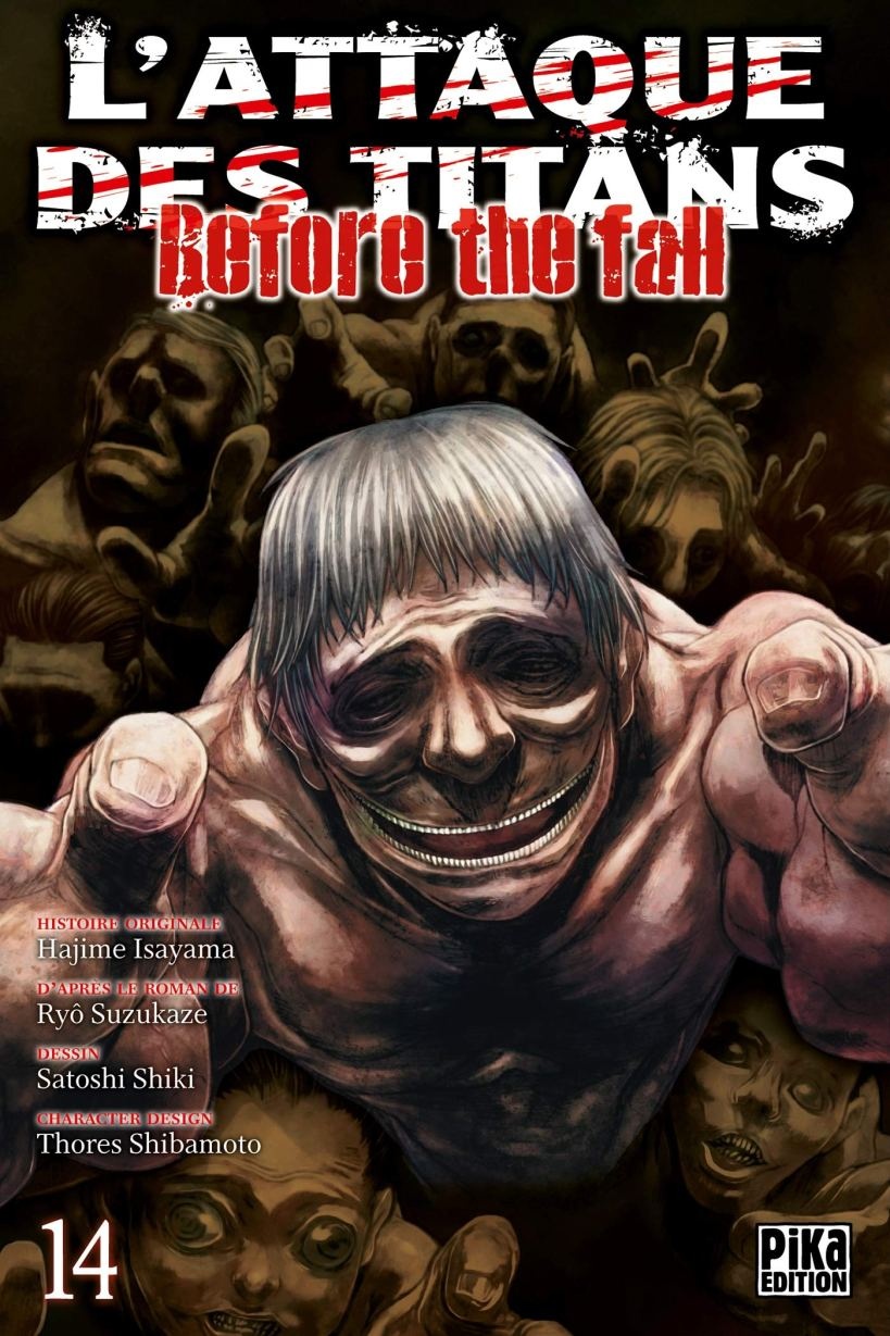 l'attaque des titans,seinen,manga,pika edition,spin-off,Before The Fall,L'attaque des titans Before The Fall,tome 14