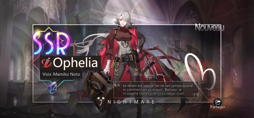 ophelia enfin à moi