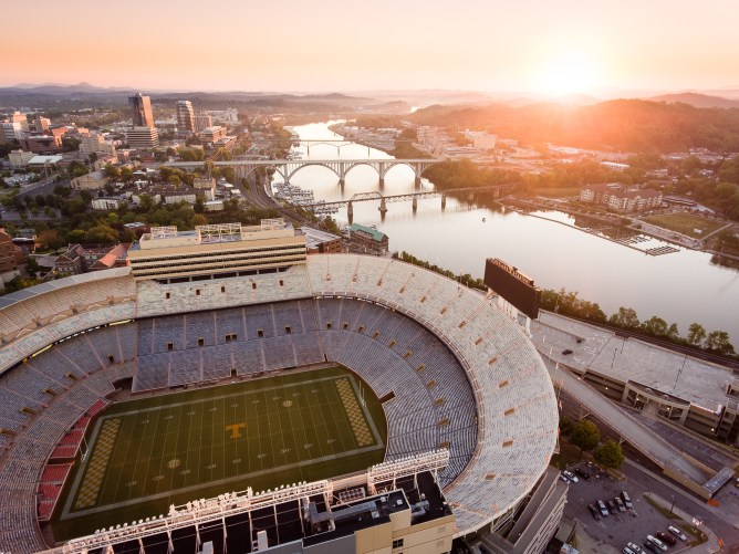 Neyland Stadium Sunrise