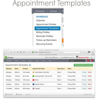EHR Appointment Templates