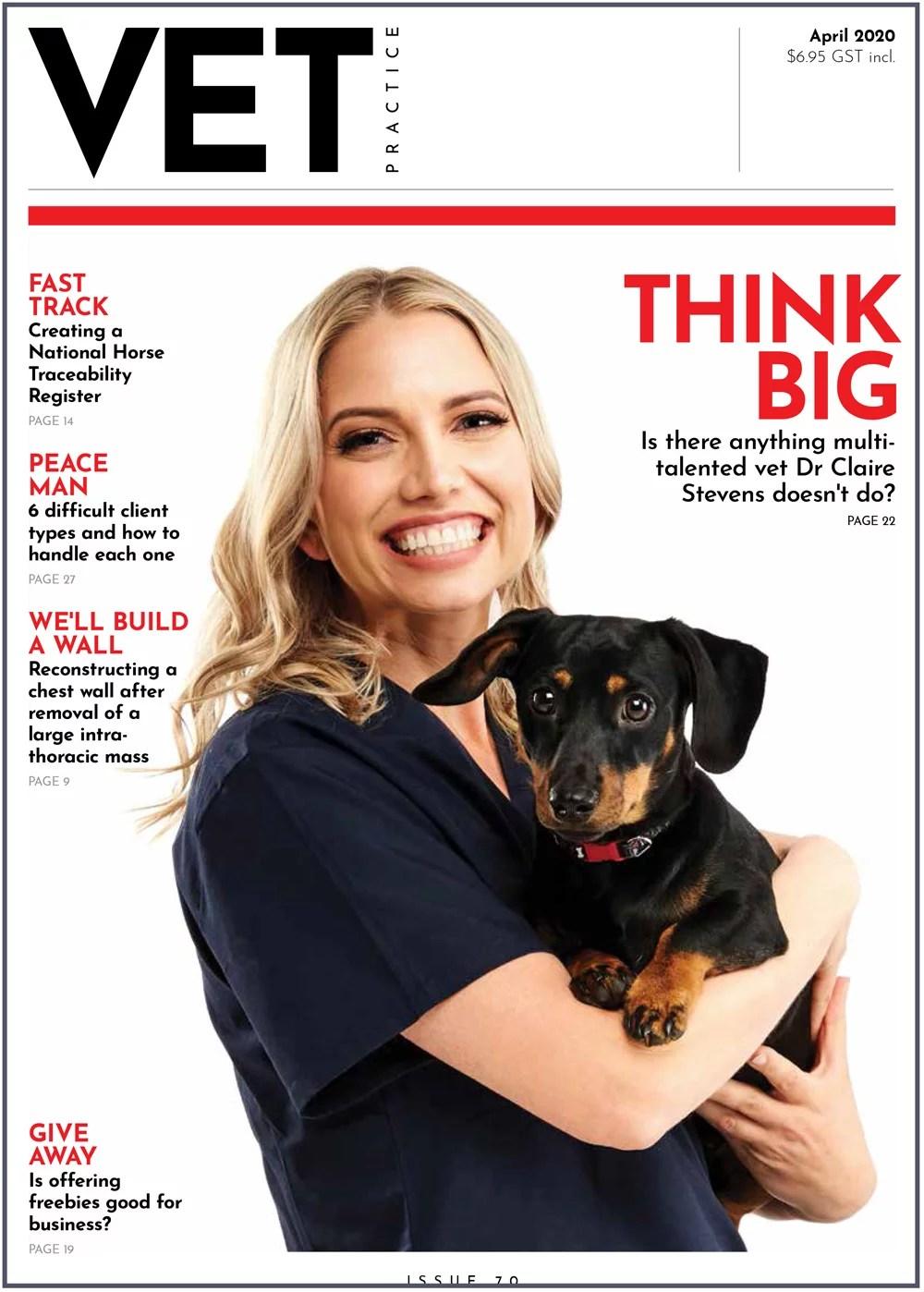 Dr Claire vet practice magazine
