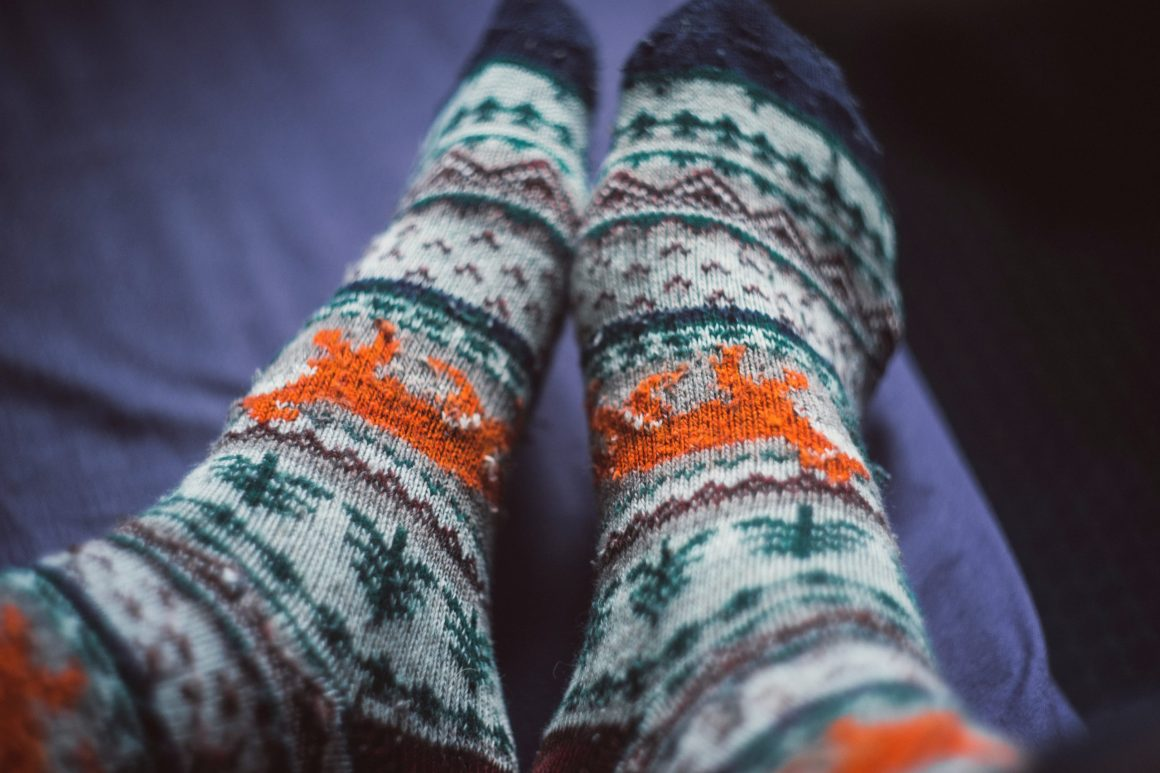 Fuzzy socks perfect for slippers