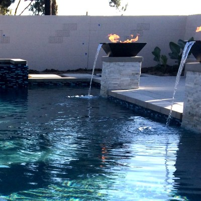 Modern Pool & Spa, Cabana and Outdoor Kitchen in progress