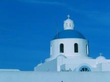 Greek Orthodox in Santorine, Greece