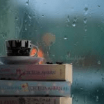 rainy day through window