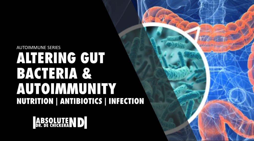 blog cover page for altering gut bacteria and autoimmunity