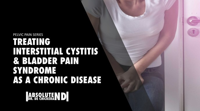 blog cover page for treating interstitial cystitis and bladder pain syndrome as a chronic disease