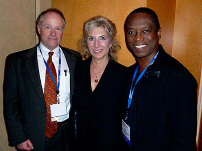 Dr Marie with Dan Goldberger and Dr David Matlock