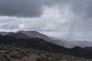 Rain over Nevada