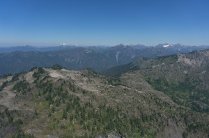 Olympus (l) and Anderson (r) from summit