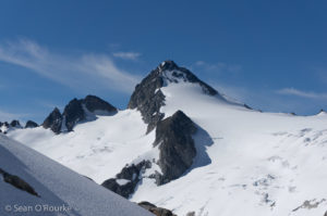 Snowfield from col