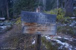 Hand-lettered sign near Emerald Lake