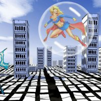 Invisible Woman vs Supergirl