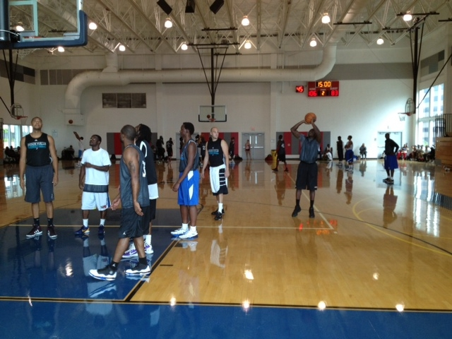 Miami Heat NBA D-League tryout in 2012. There were over 100 players there, being evaluated by 2 total people. Two.