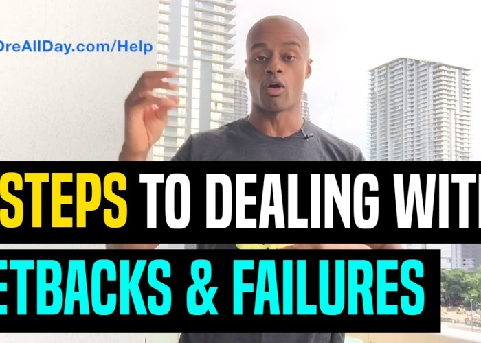 VIDEO: How To Deal With Setbacks And Failure