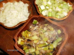 sauted leeks and onions