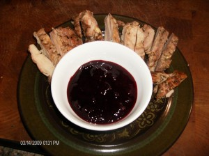 plum jam w chicken