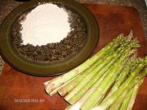 asperagus w flour
