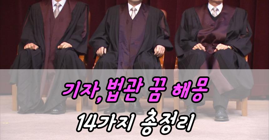 기자,법관 꿈 해몽 14가지 총정리