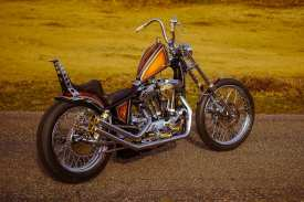Mit dem Chopper tritt Thudnerbike beim Kings of the Kings«-Contest gegen siebzehn andere Harley-Manufakturen in den Wettstreit